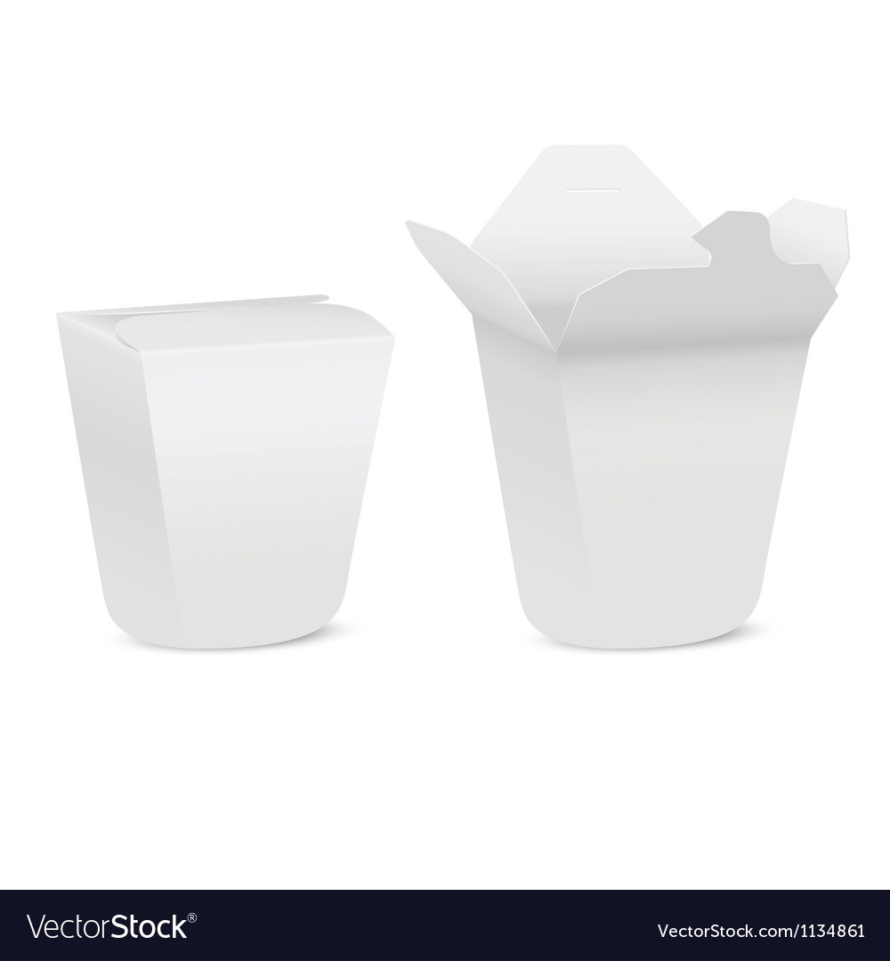 Chinese take-out box isolated on white background vector | Price: 1 Credit (USD $1)