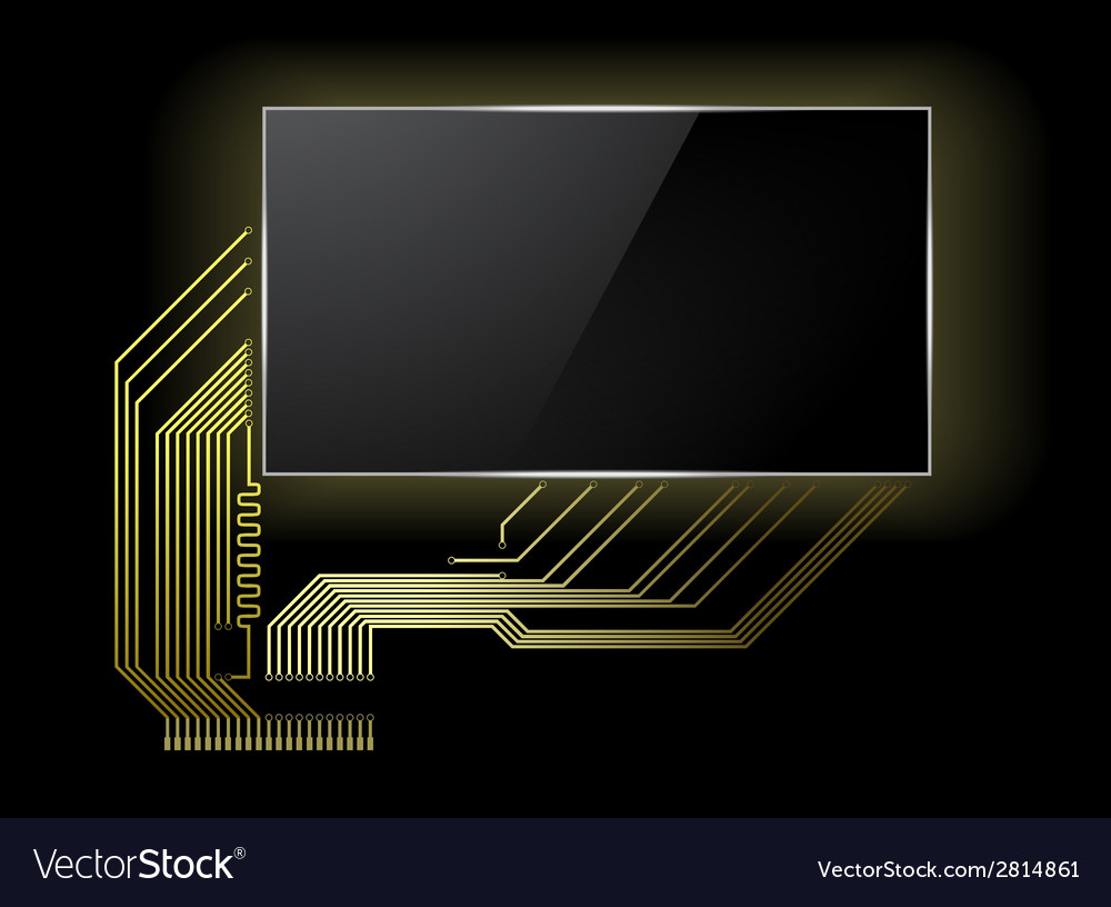Circuit board with screen vector | Price: 1 Credit (USD $1)