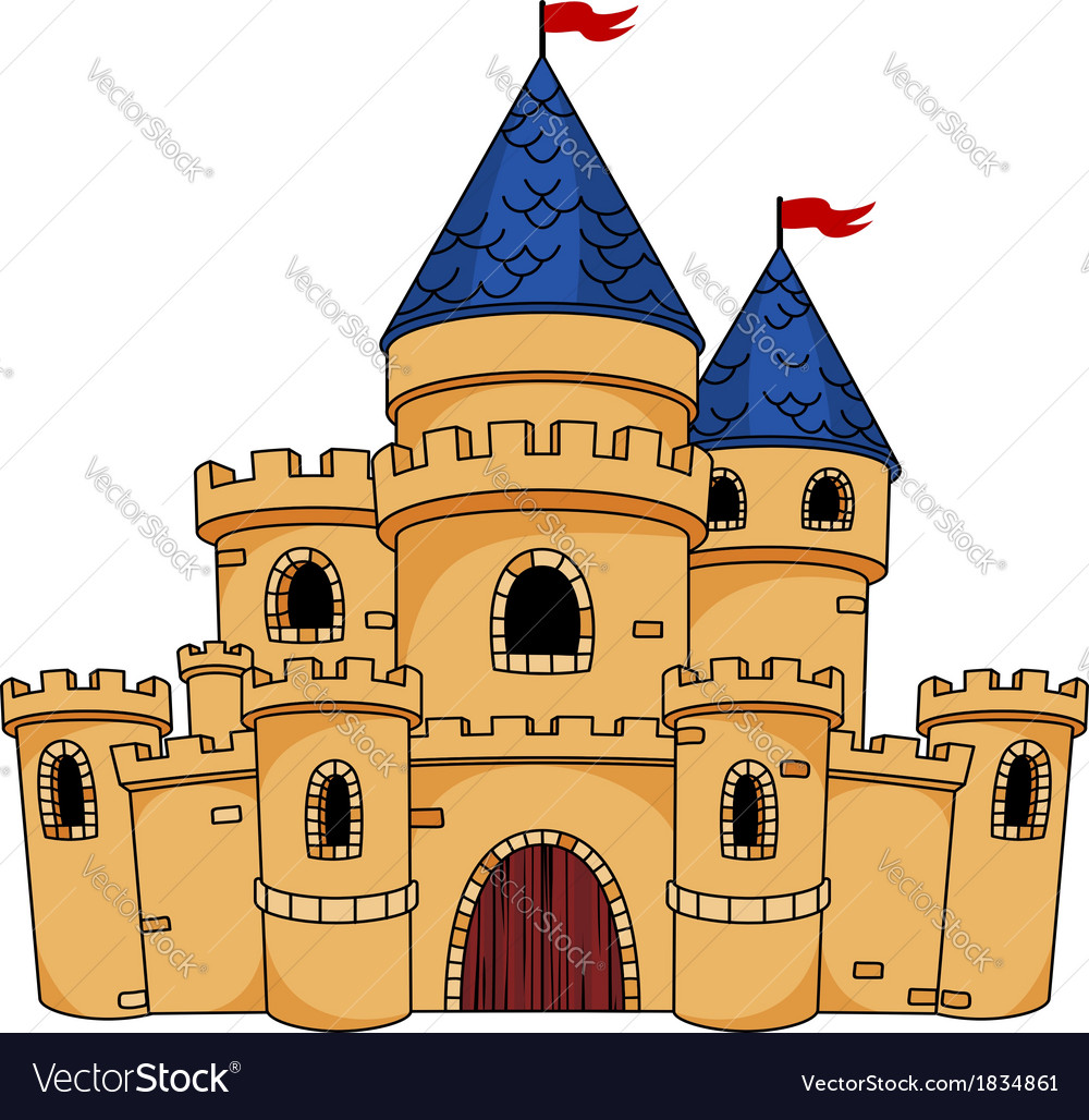 Medieval castle or fortress vector | Price: 1 Credit (USD $1)
