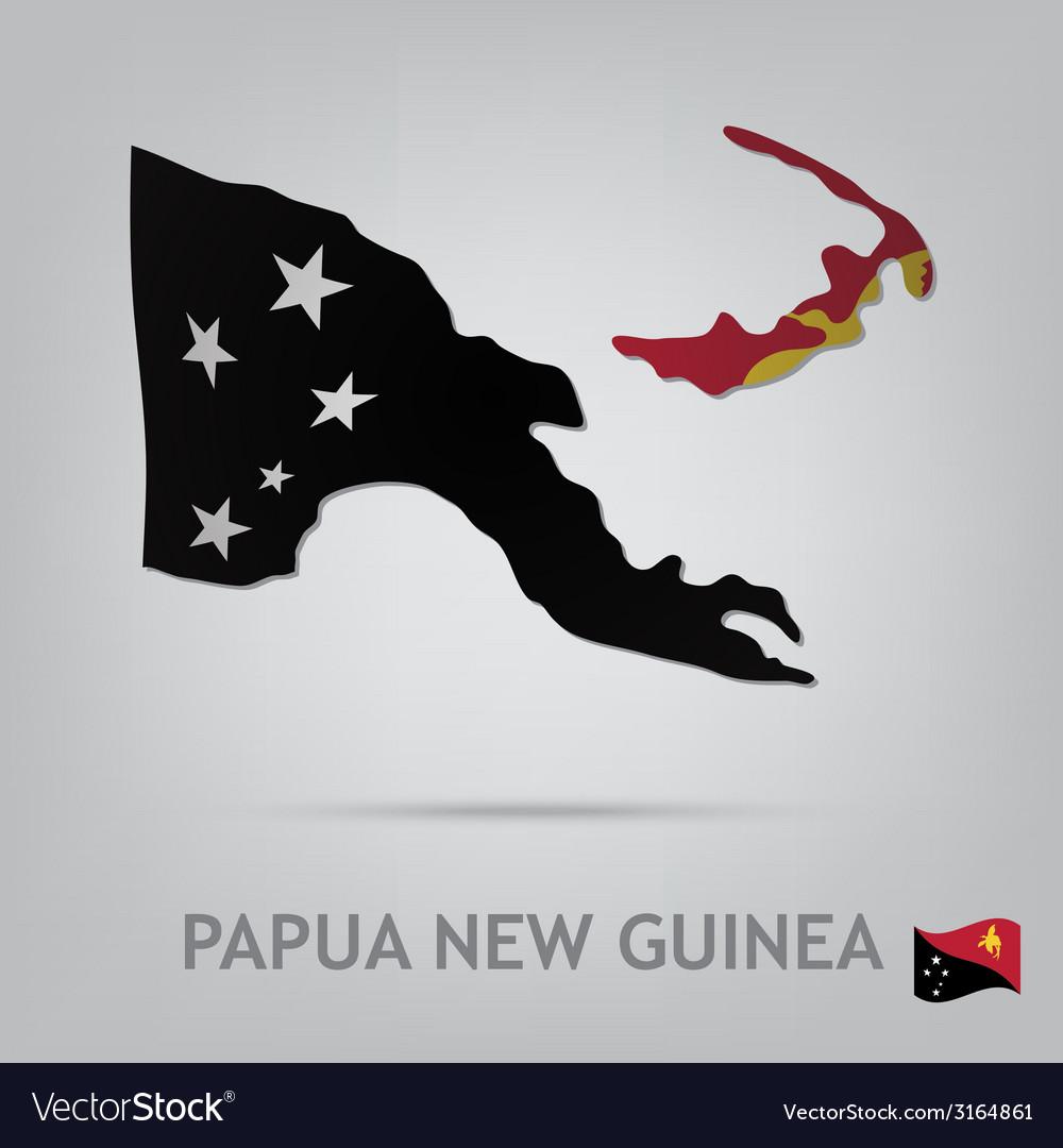 Papua new guinea vector | Price: 1 Credit (USD $1)