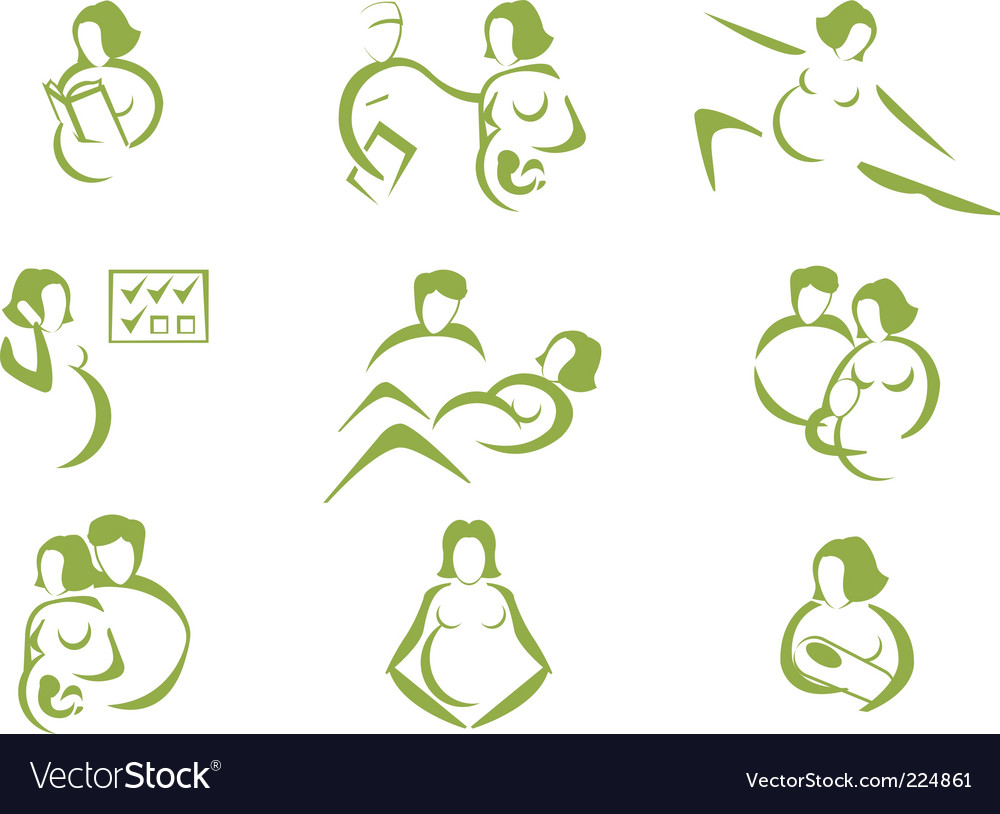 Prenatal and childbirth vector | Price: 1 Credit (USD $1)
