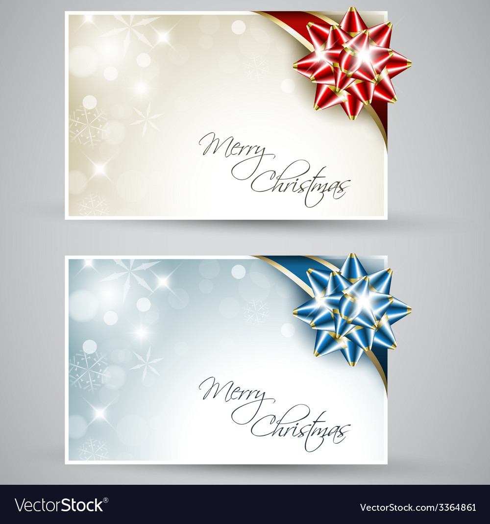 Set of christmas new year cards vector   Price: 1 Credit (USD $1)