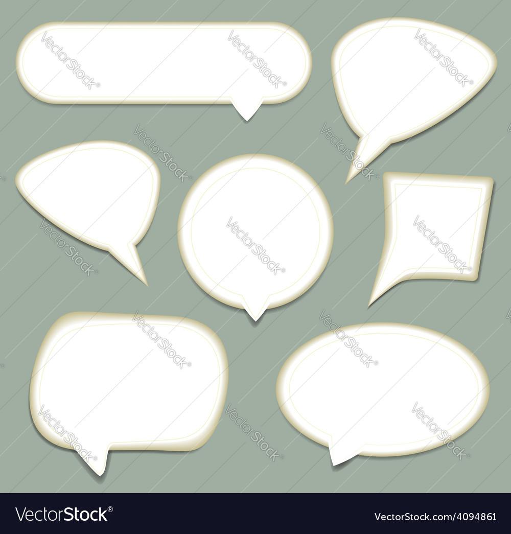 Speech bubble set vector   Price: 1 Credit (USD $1)