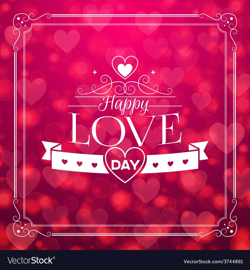 St valentines day abstract background with vector | Price: 1 Credit (USD $1)