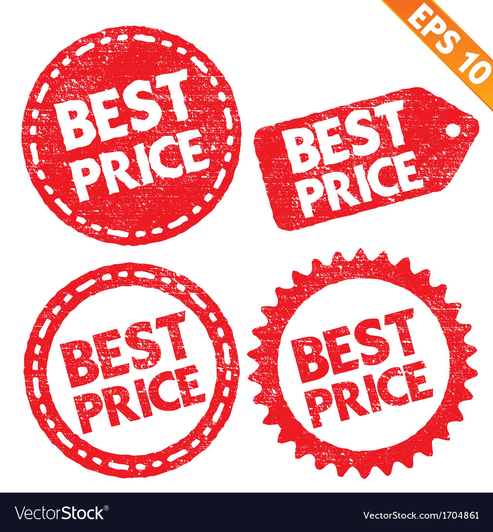 Stamp sticker best price tag collection - - vector | Price: 1 Credit (USD $1)