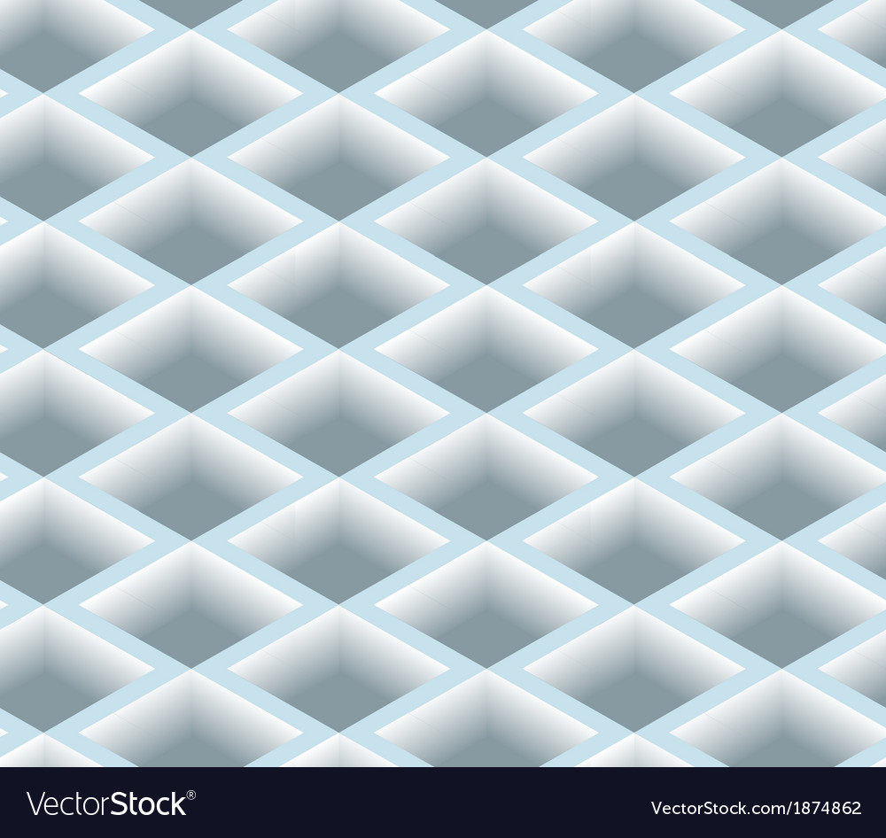 3d square box net seamless pattern background vector | Price: 1 Credit (USD $1)