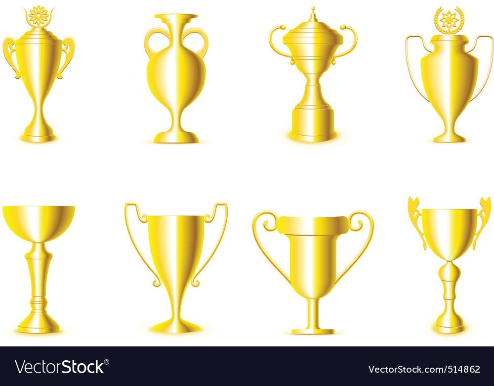 Award cups vector | Price: 1 Credit (USD $1)