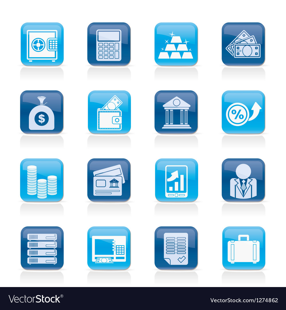 Bank and finance icons vector   Price: 1 Credit (USD $1)