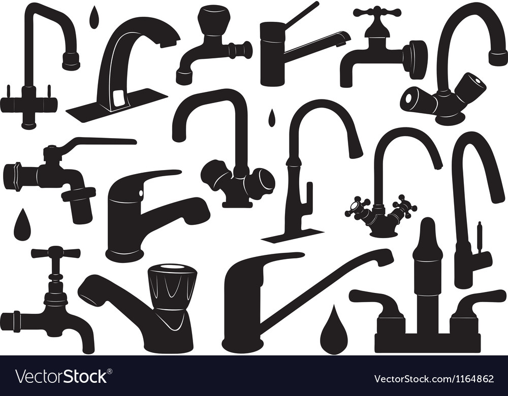 Faucet set vector | Price: 1 Credit (USD $1)