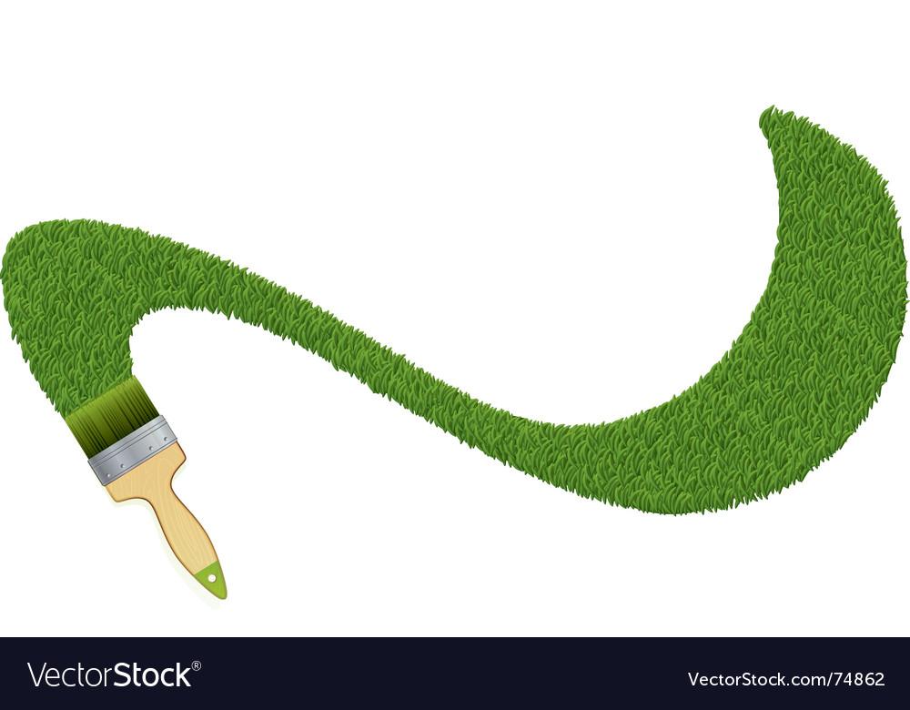 Grass painter vector