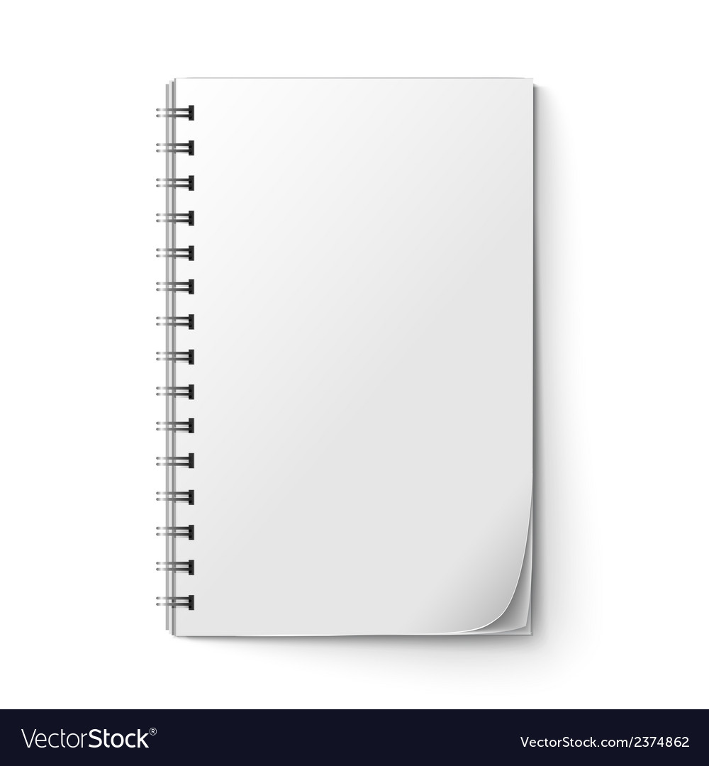 Realistic notepad blank vector | Price: 1 Credit (USD $1)
