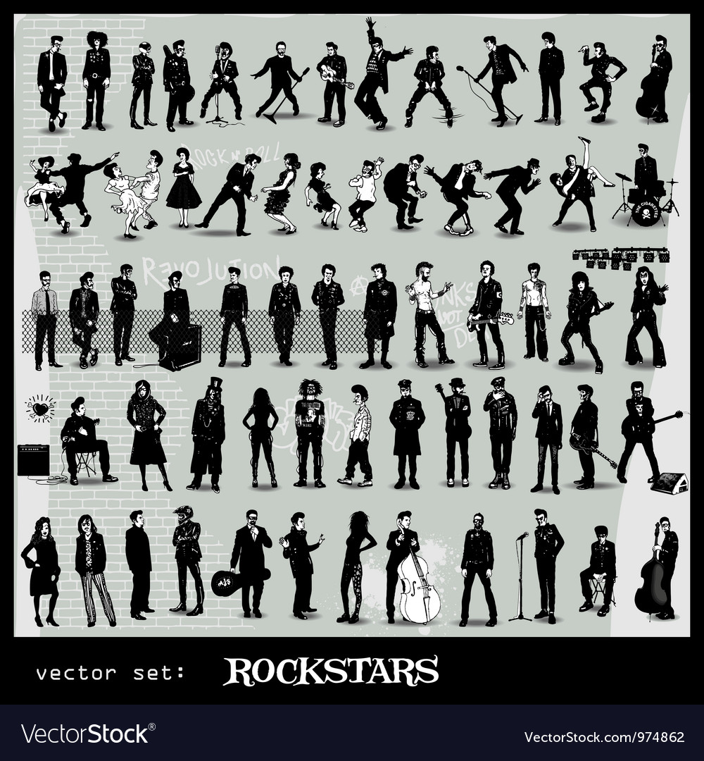Rockstars vector | Price: 3 Credit (USD $3)