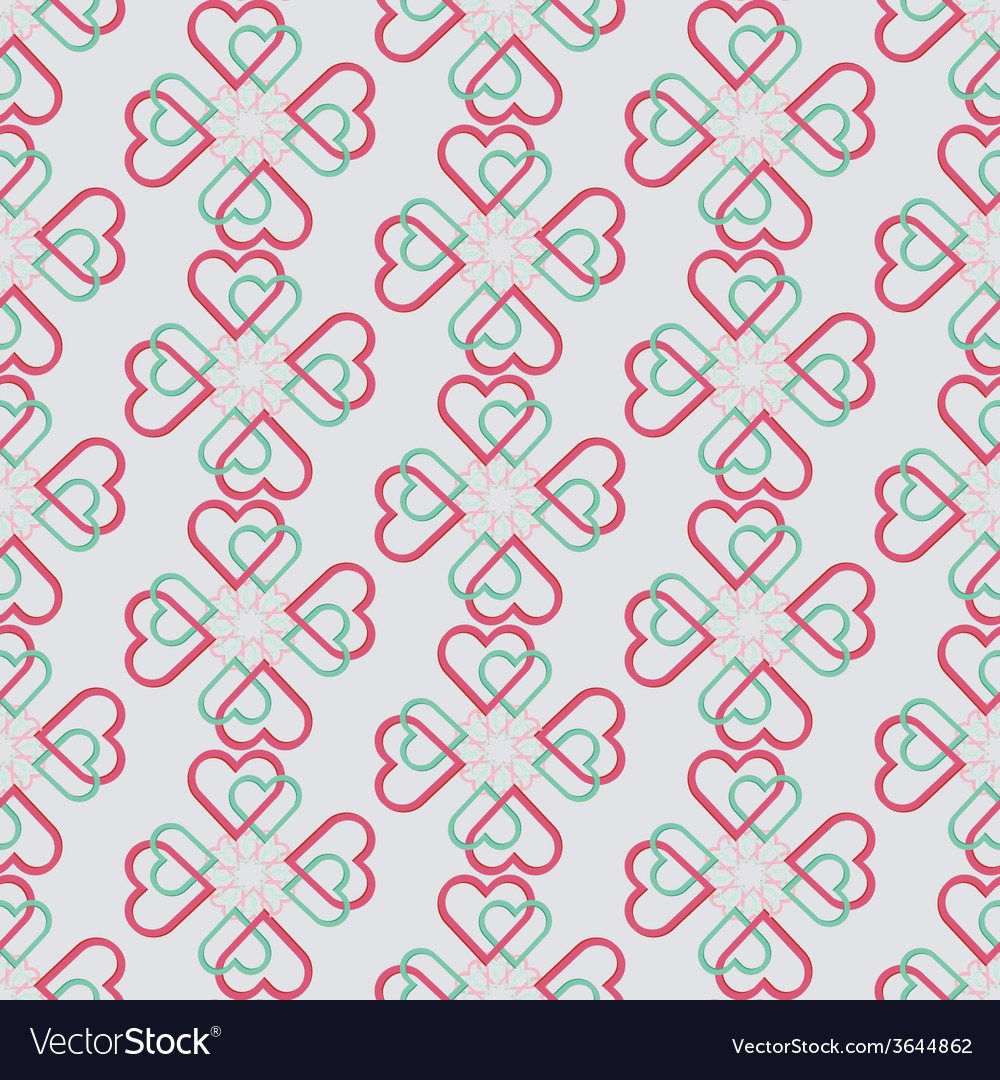Seamless pattern of joint heart vector | Price: 1 Credit (USD $1)