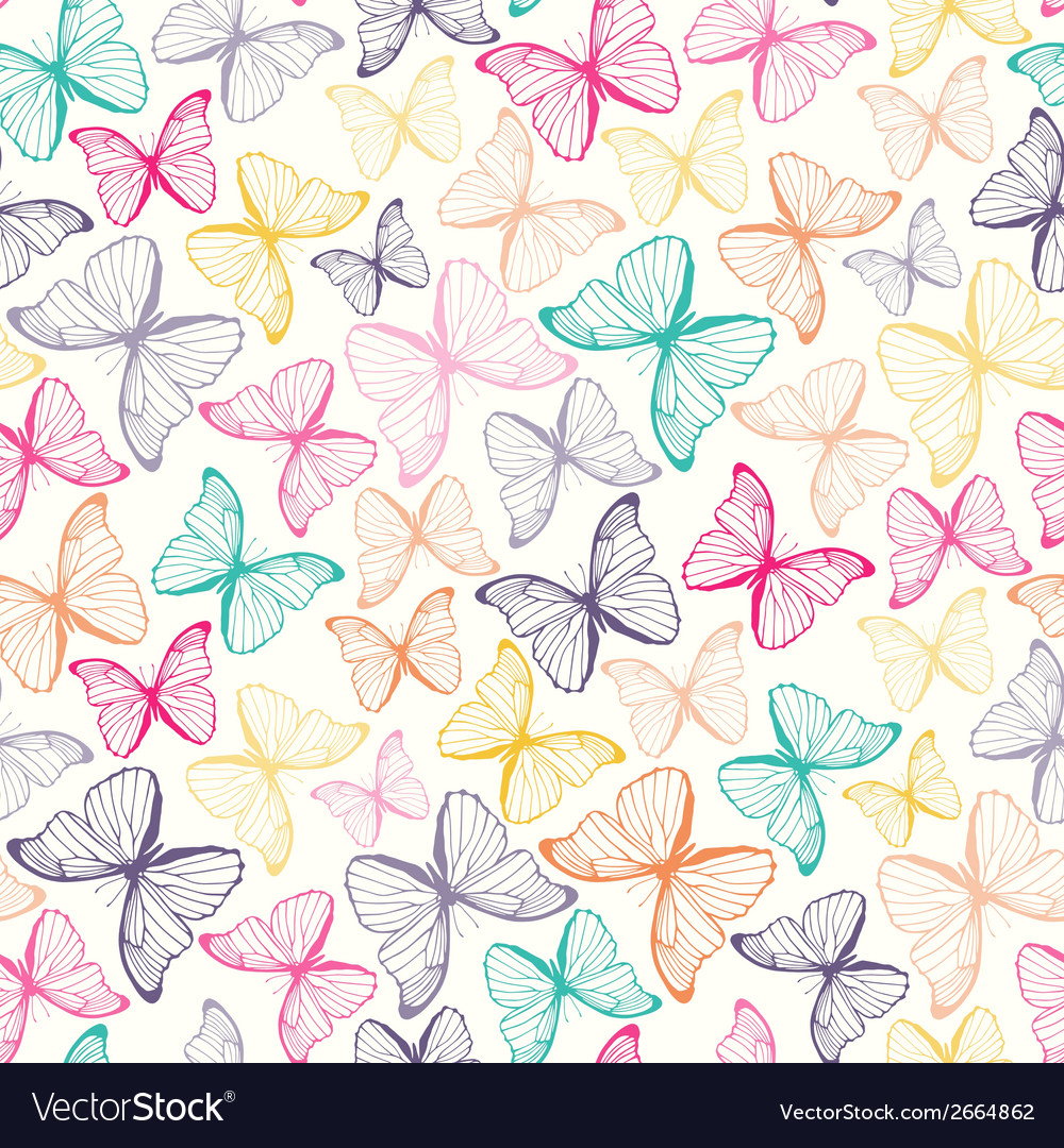 Seamless pattern with colorful hand drawn outline vector | Price: 1 Credit (USD $1)