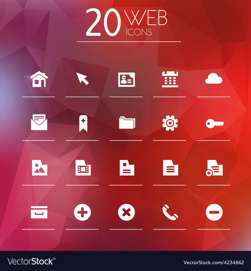 Web icons on blurred background vector | Price: 1 Credit (USD $1)