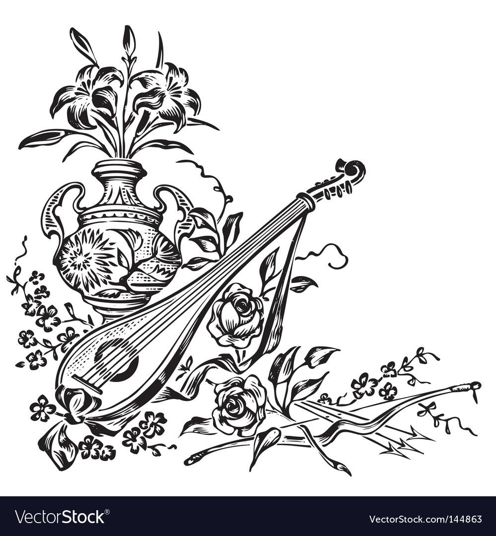 Antique corner decoration engraving vector | Price: 1 Credit (USD $1)