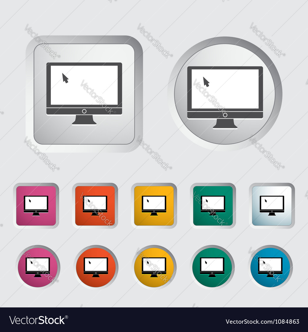 Monitor icon vector | Price: 1 Credit (USD $1)