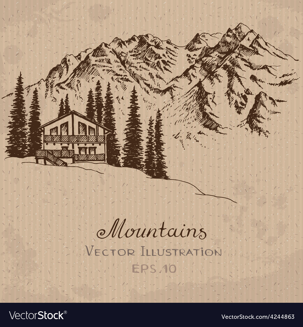 Mountain house vector | Price: 1 Credit (USD $1)