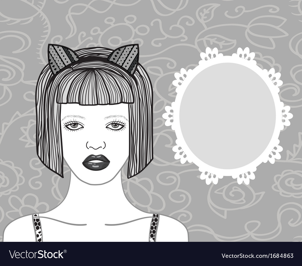 Pretty young woman vector | Price: 1 Credit (USD $1)