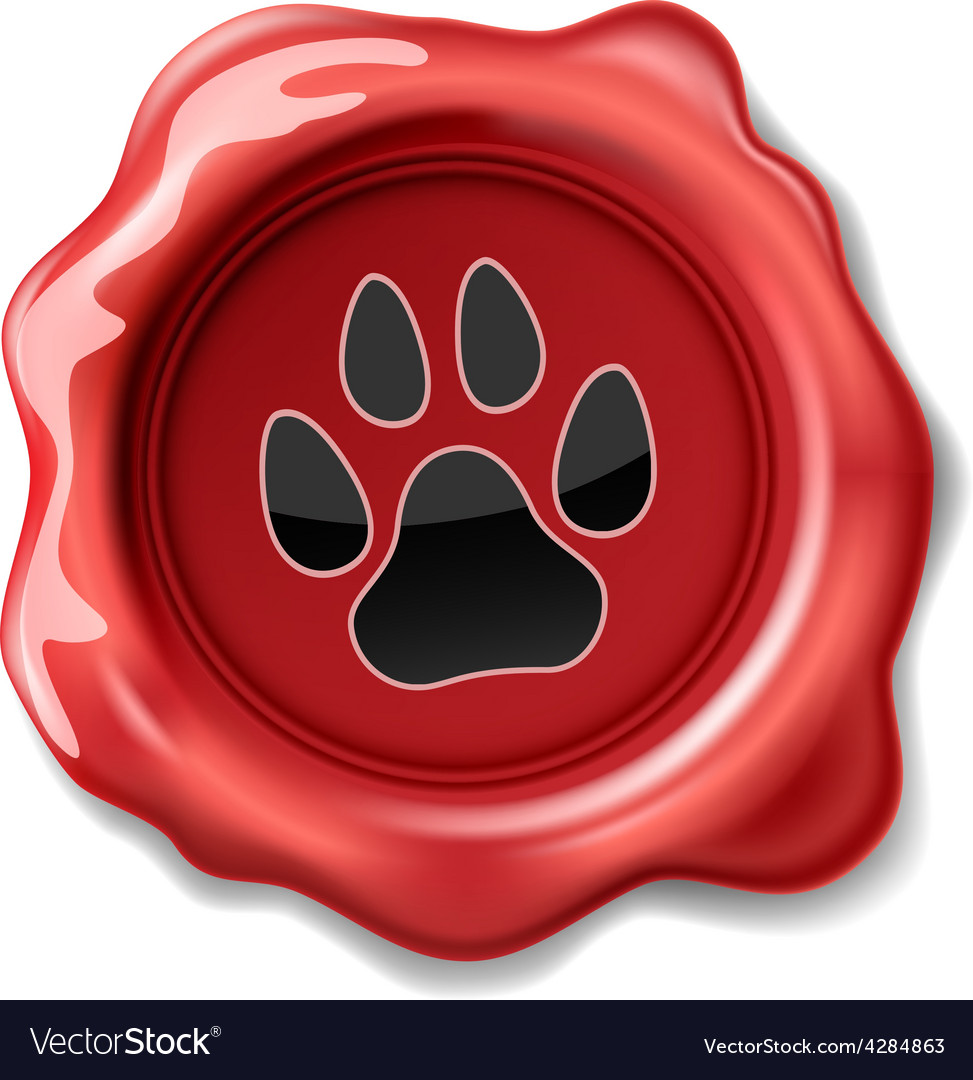 Seal wax cat vector | Price: 1 Credit (USD $1)
