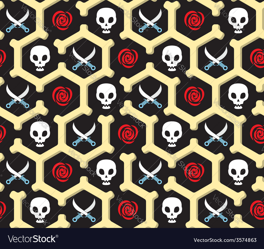 Seamless bandit theme pattern vector | Price: 1 Credit (USD $1)