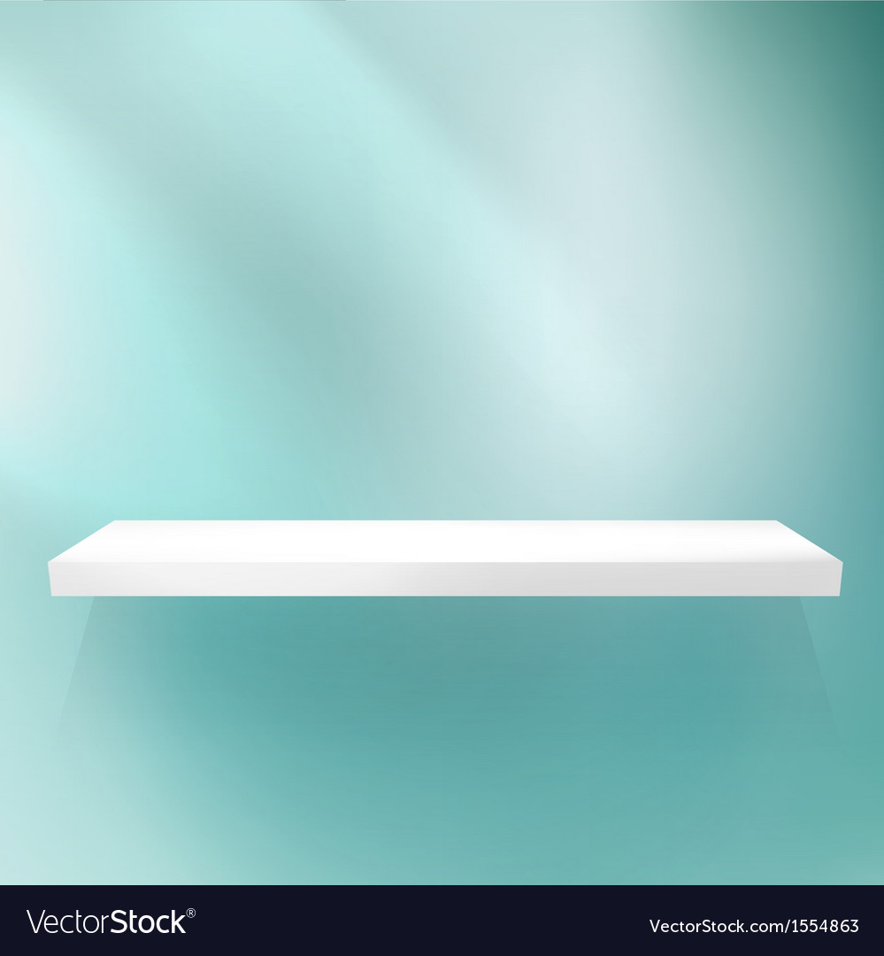 Shelf on blue for exhibition vector | Price: 1 Credit (USD $1)