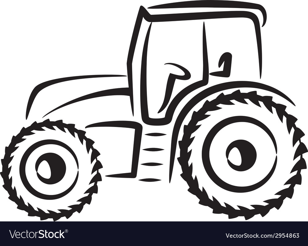 Simple with a tractor vector | Price: 1 Credit (USD $1)
