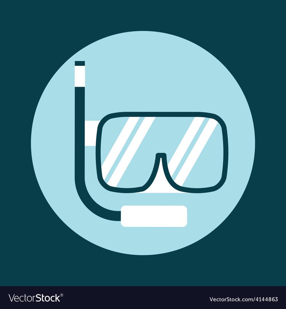 Snorkel icon vector | Price: 1 Credit (USD $1)