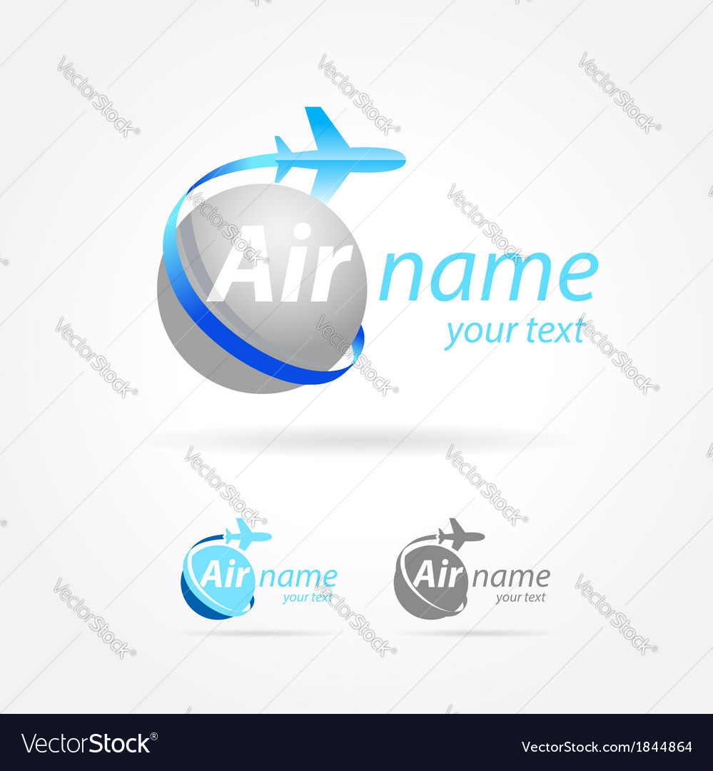 Airplane emblem sign plane symbol vector | Price: 1 Credit (USD $1)
