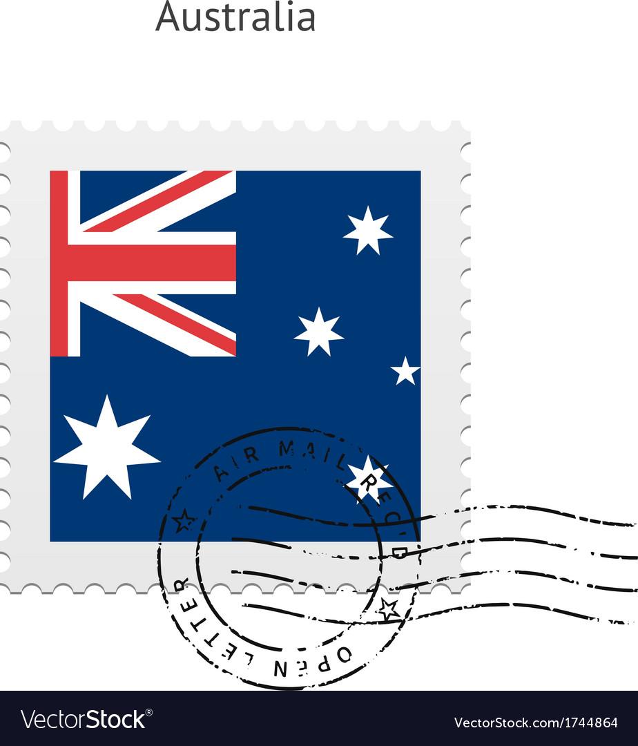 Australia flag postage stamp vector | Price: 1 Credit (USD $1)