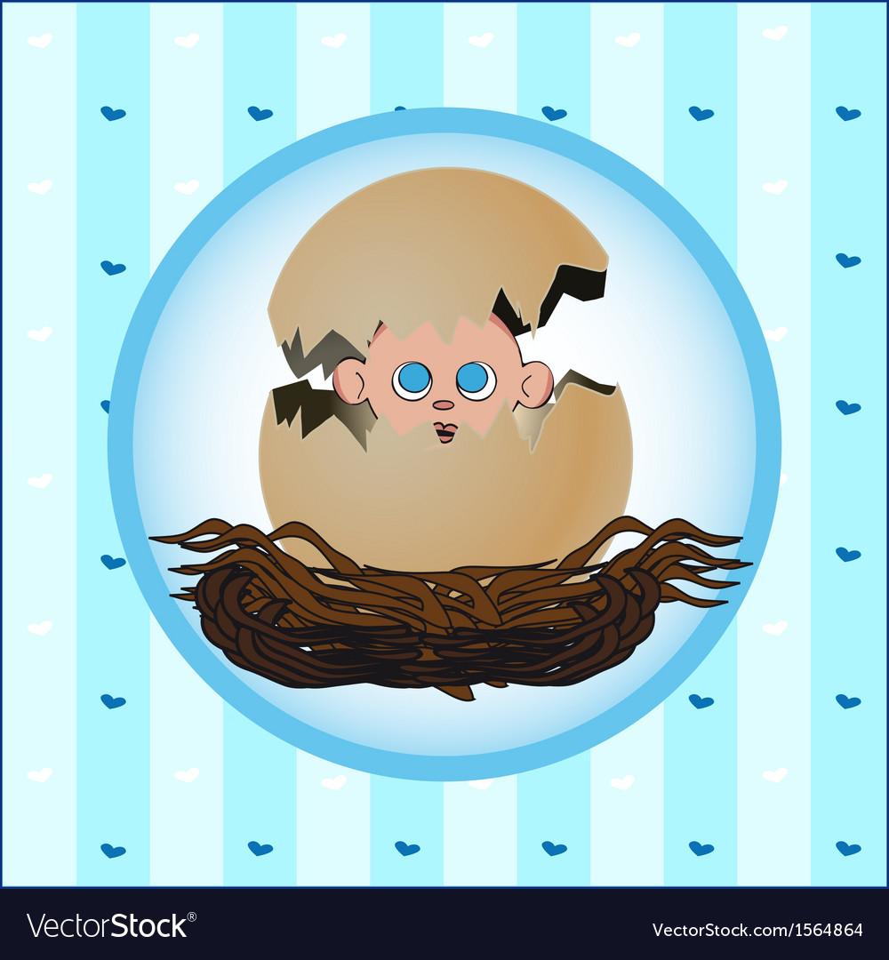 Birth card boy vector | Price: 1 Credit (USD $1)
