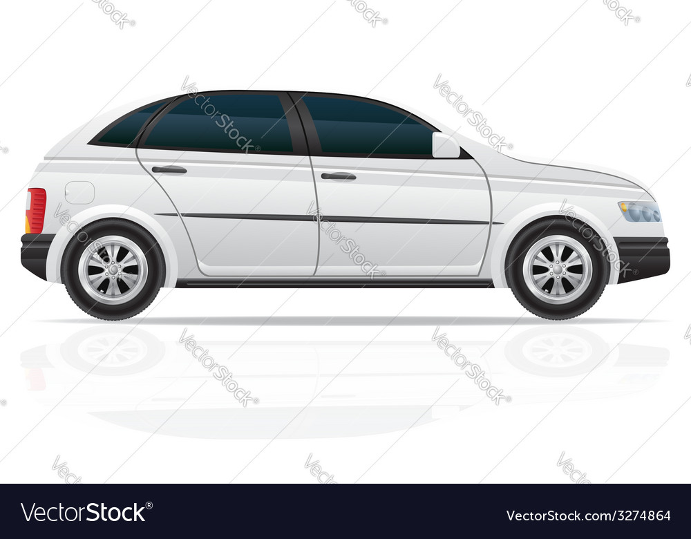 Car hatchback 01 vector