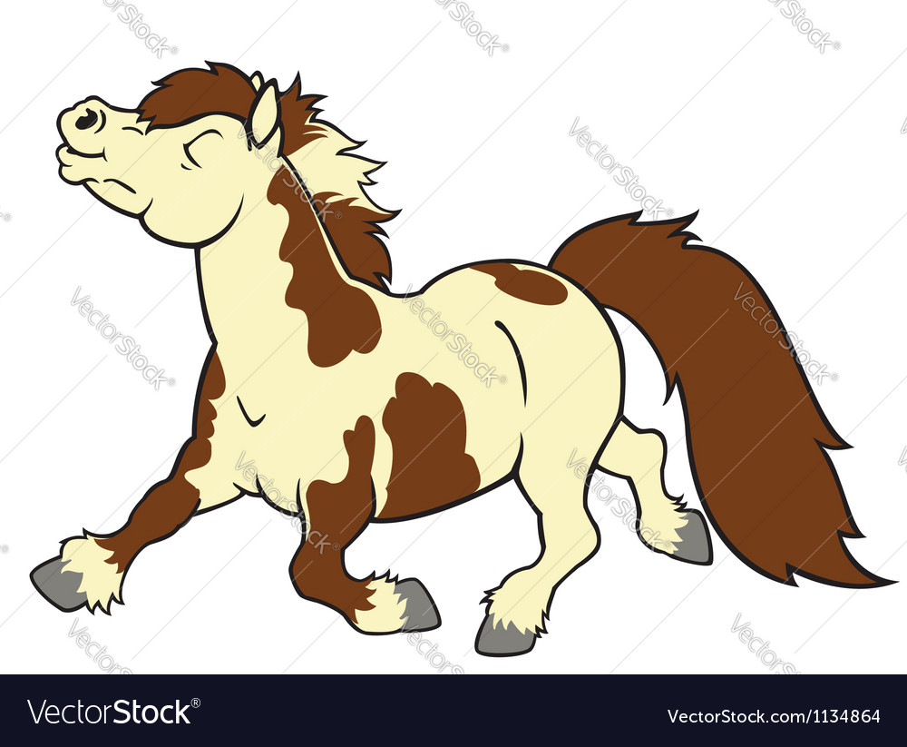 Cartoon pony vector | Price: 1 Credit (USD $1)