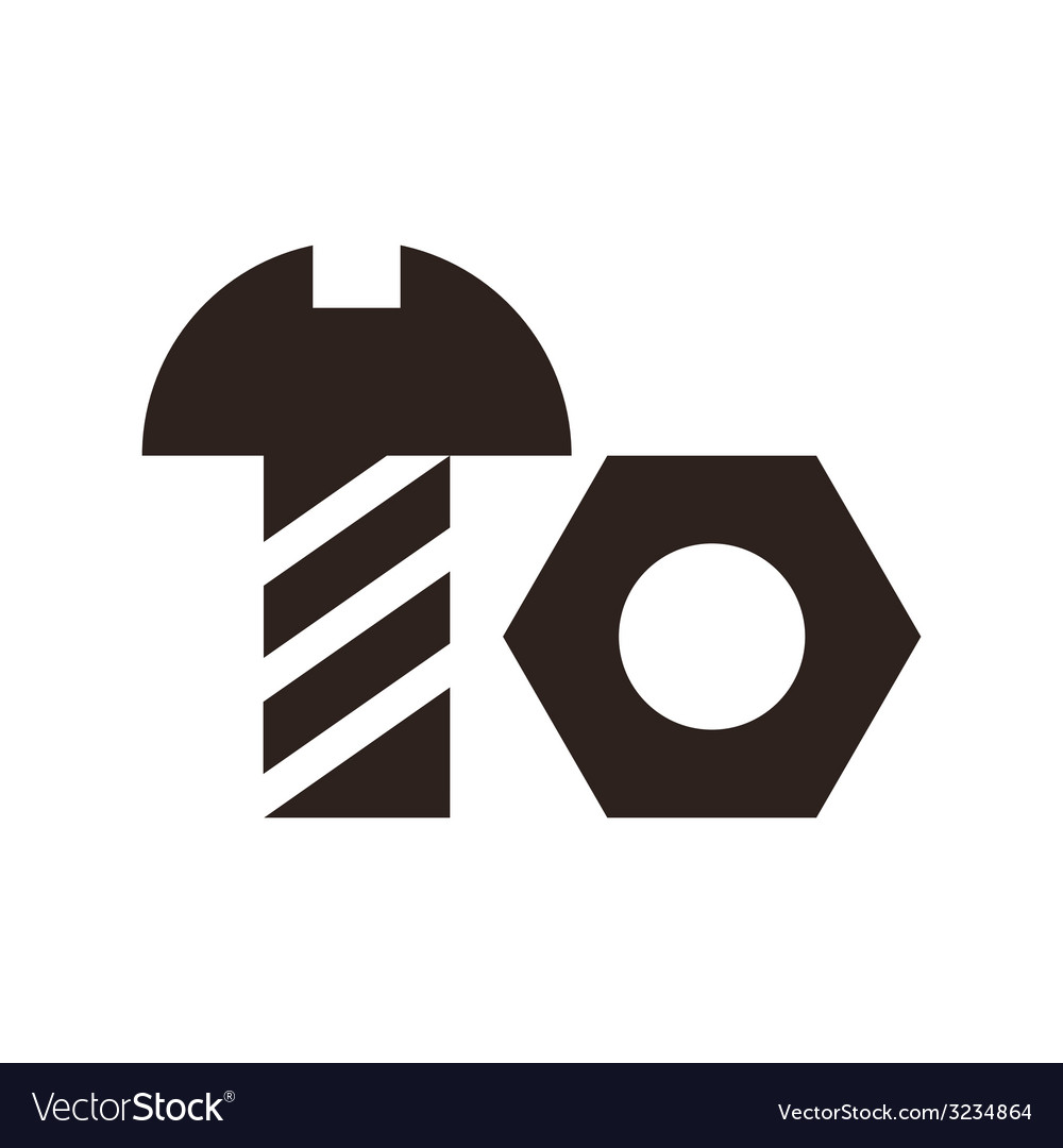 Nut and bolt icon vector | Price: 1 Credit (USD $1)