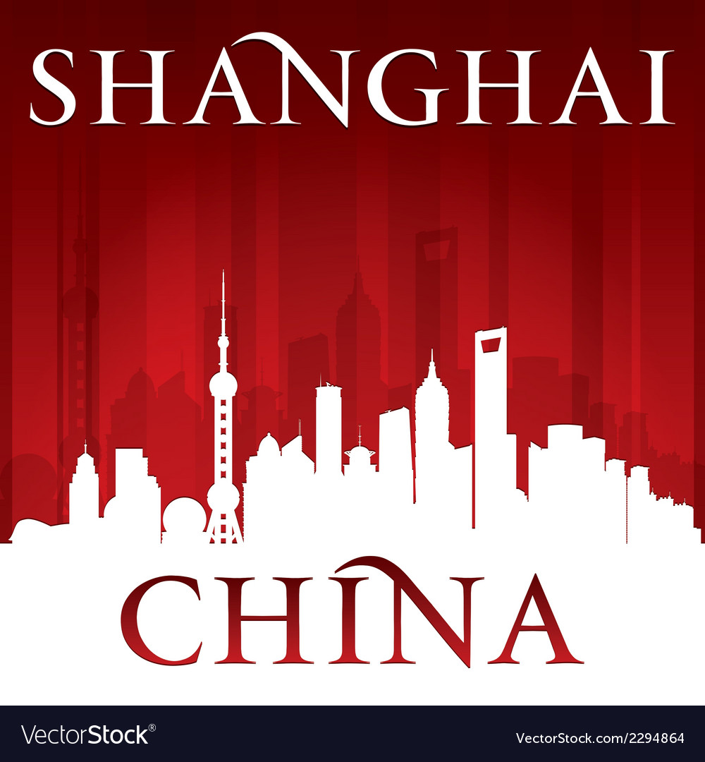 Shanghai china city skyline silhouette vector | Price: 1 Credit (USD $1)