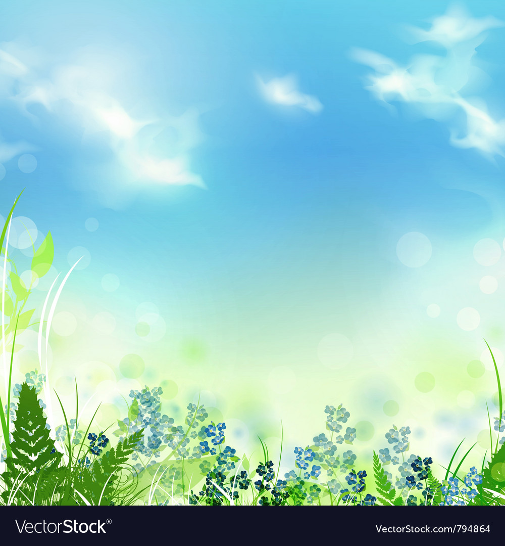 Summer or spring meadow vector | Price: 1 Credit (USD $1)