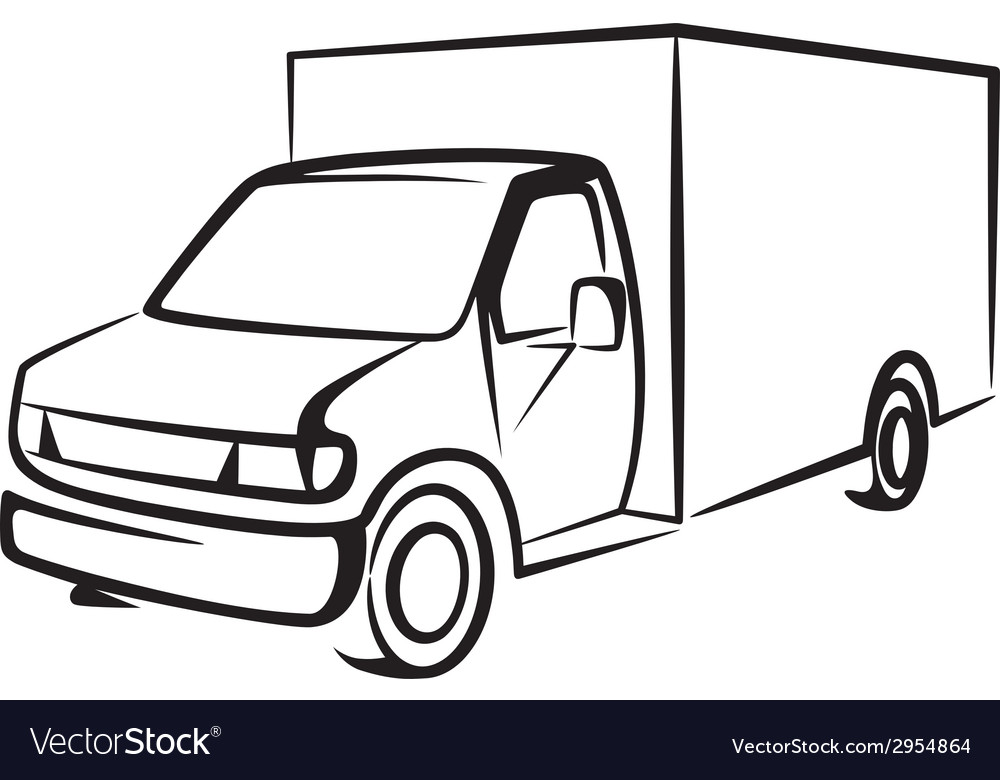With a truck cargo concept vector | Price: 1 Credit (USD $1)
