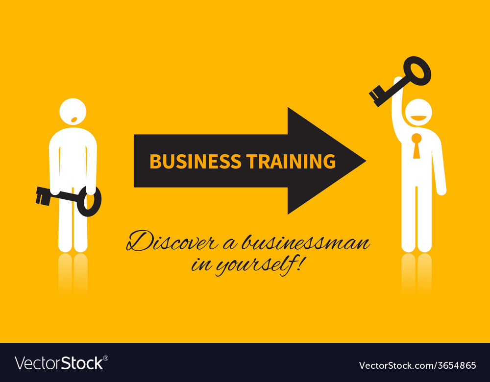Business icon of man with a key vector | Price: 1 Credit (USD $1)