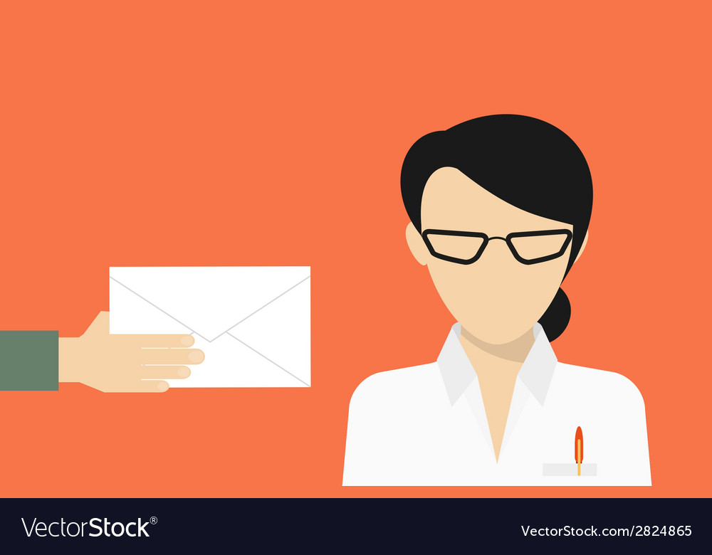 Business manager received a mail vector | Price: 1 Credit (USD $1)