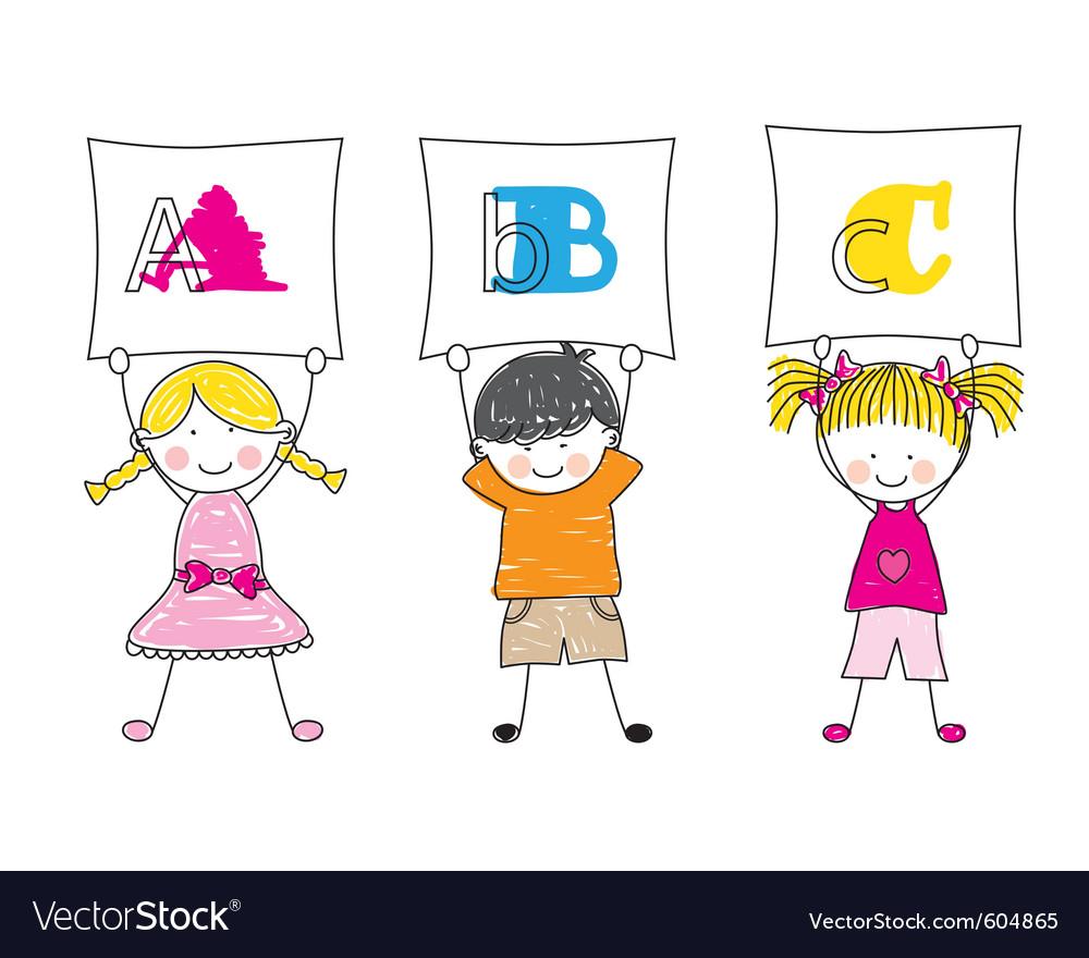 Children alphabet vector | Price: 1 Credit (USD $1)