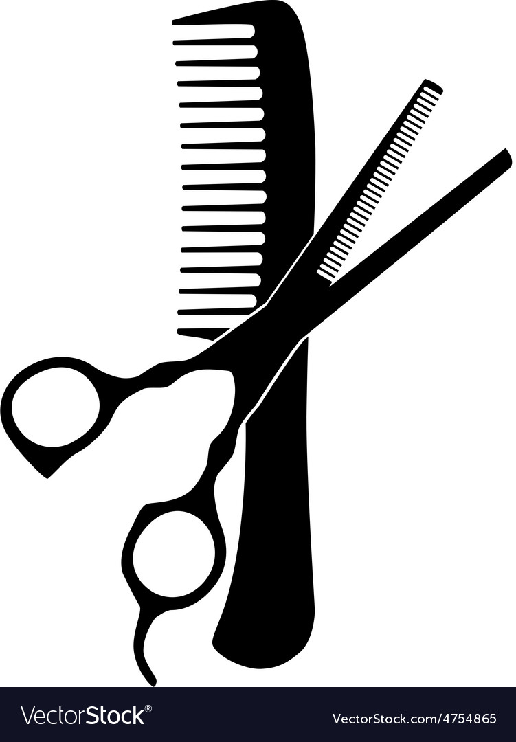 Comb and scissors vector | Price: 1 Credit (USD $1)