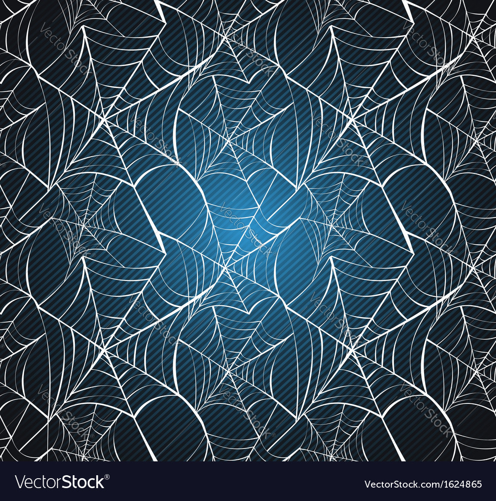 Halloween spider web seamless pattern blue vector | Price: 1 Credit (USD $1)