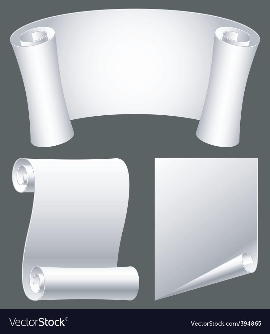 Paper scrolls vector | Price: 1 Credit (USD $1)