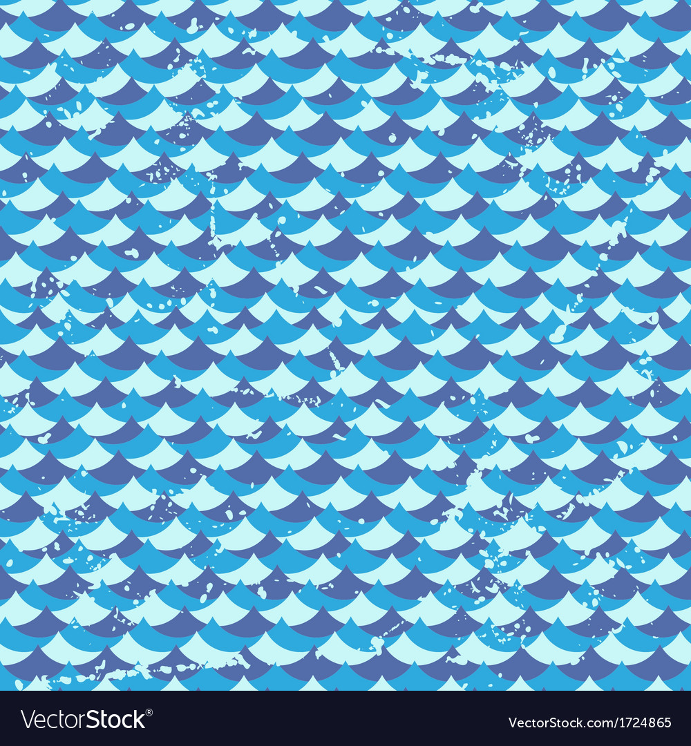 Seamless grunge pattern with waves vector | Price: 1 Credit (USD $1)