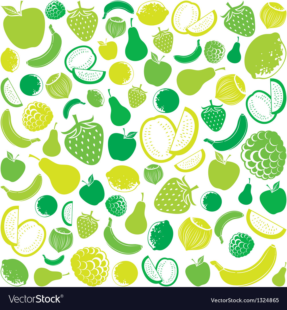 Seamless pattern with fruit vector | Price: 1 Credit (USD $1)