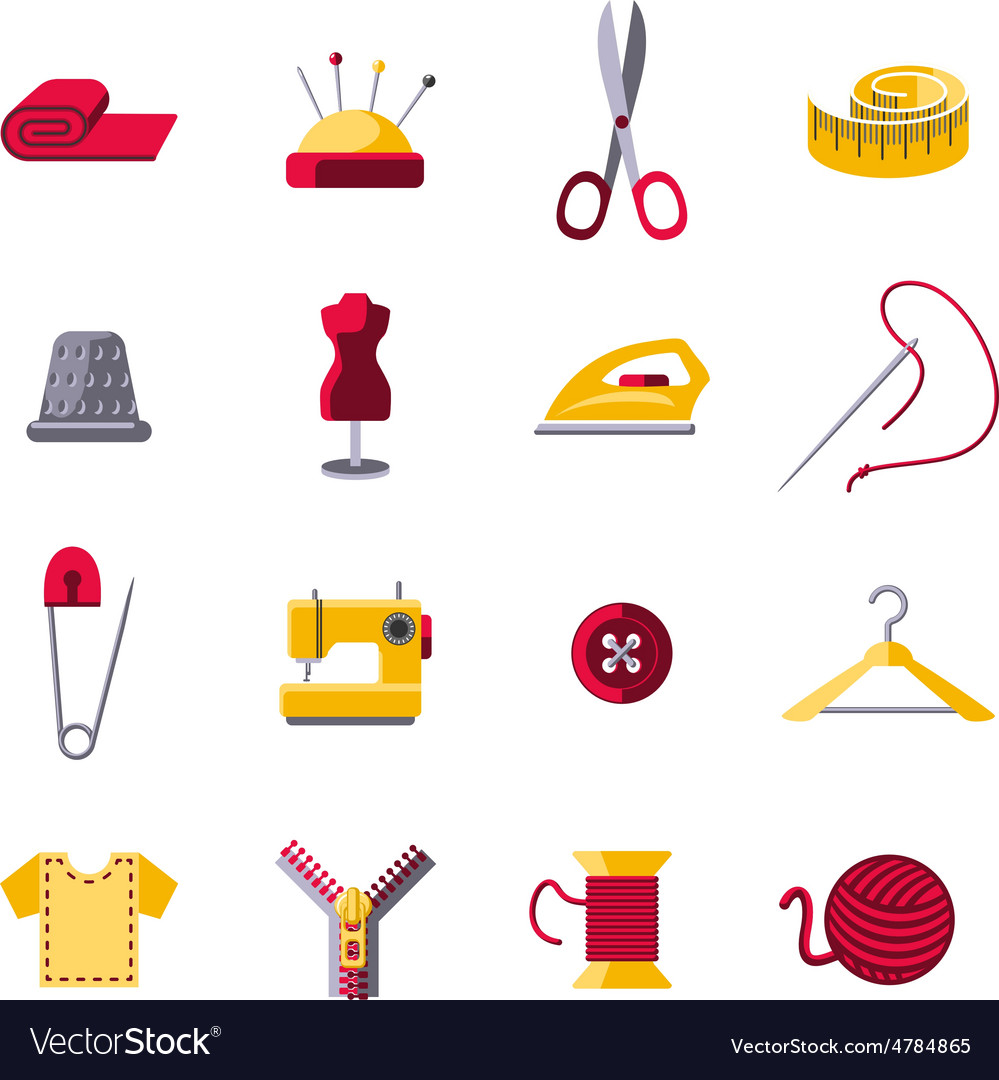 Sewing icons set vector | Price: 3 Credit (USD $3)