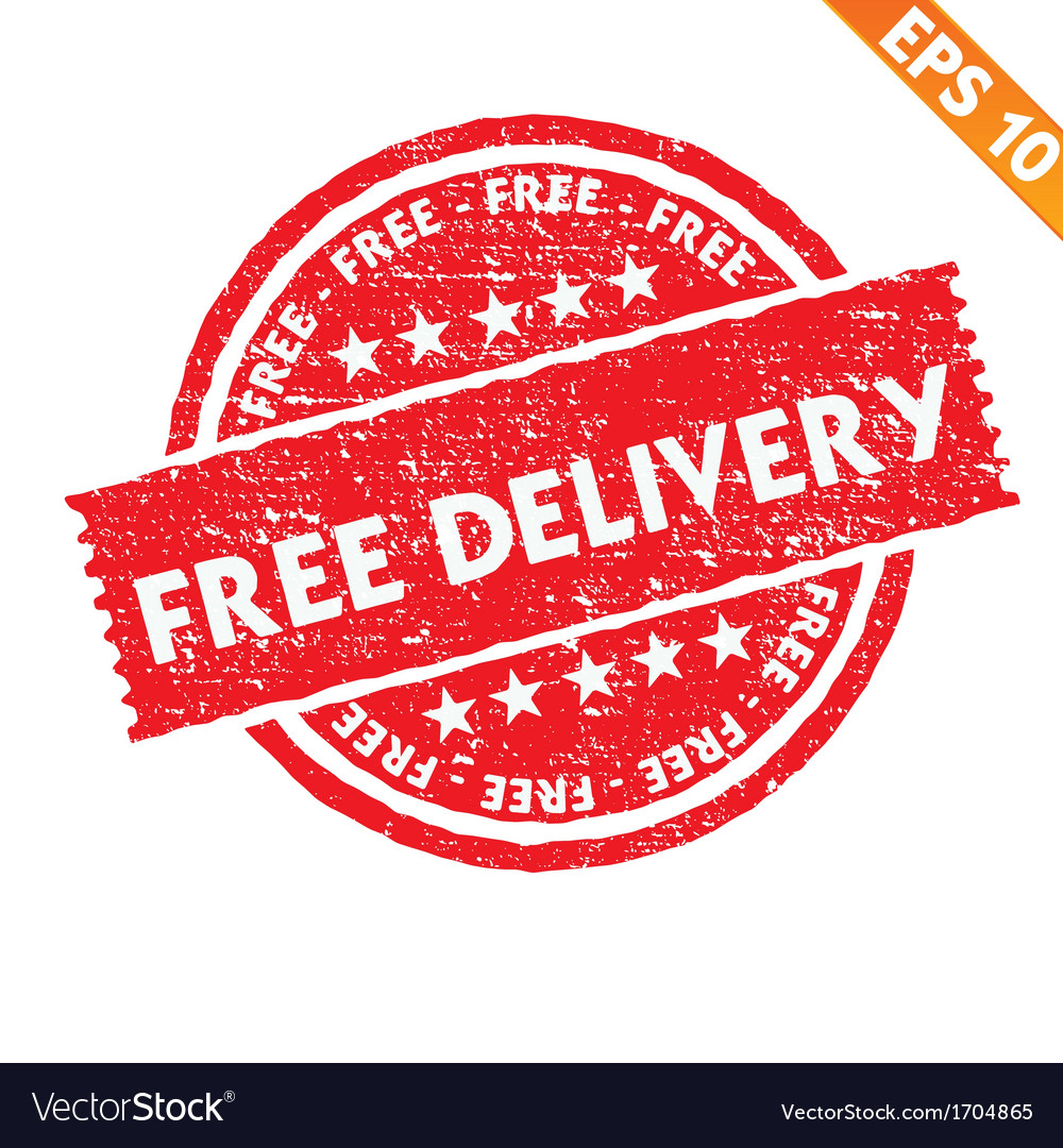 Stamp sticker free delivery collection - - vector | Price: 1 Credit (USD $1)