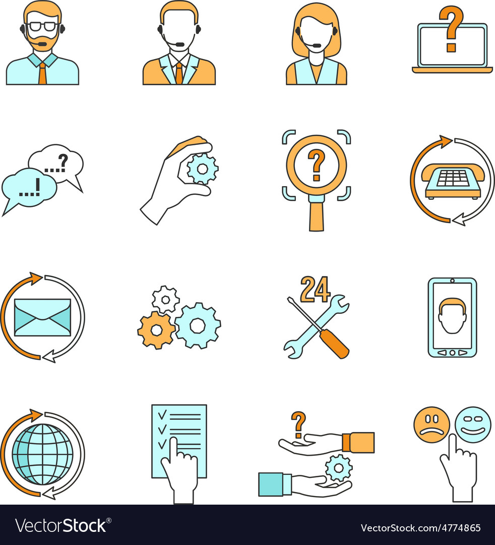 Support icons set vector | Price: 3 Credit (USD $3)