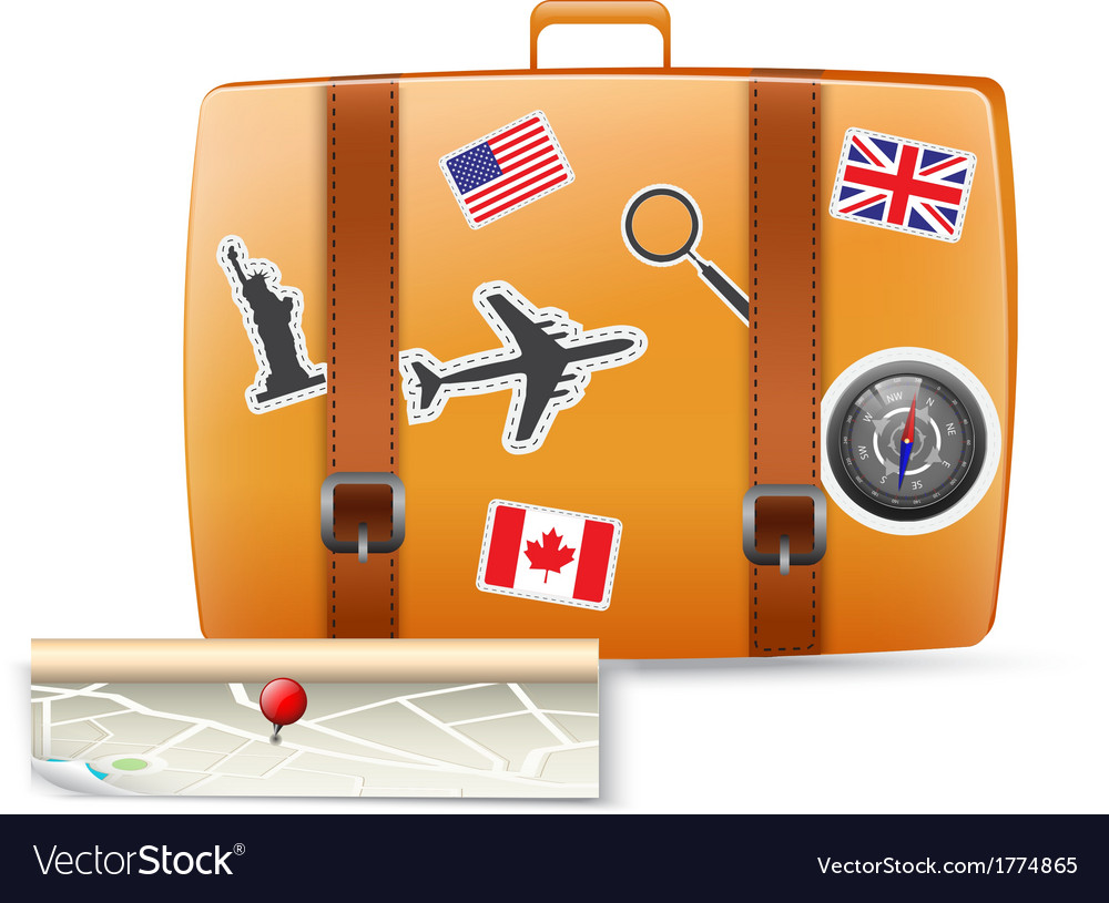 Travel bag vector | Price: 1 Credit (USD $1)