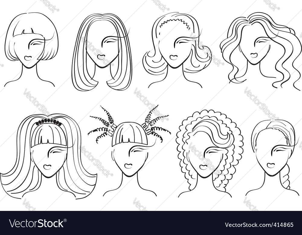 Woman haircut vector | Price: 1 Credit (USD $1)